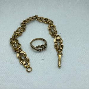 Jewelry - Middle Kingdom Knot Jewelry Bracelet & ring